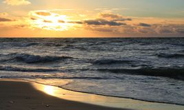 En annan dag på havet kom till ett slut Royaltyfri Fotografi