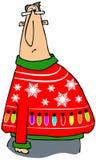 En annan ful jultröja stock illustrationer