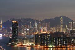 En annan sida av HK-natten beskådar 2 Arkivbild