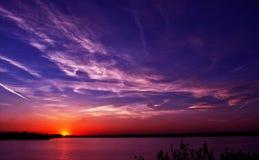 en annan solnedgång Arkivfoto