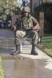 En användare för nationell Guard Fotografering för Bildbyråer