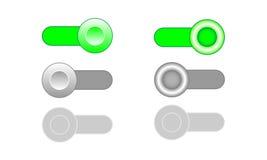 En apagado permita los iconos del conmutador de la neutralización Imagen de archivo libre de regalías
