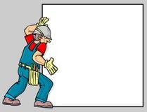 En arbetare vektor illustrationer