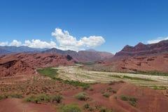 En Argentine de Quebrada de las Conchas de réservation naturelle Images libres de droits