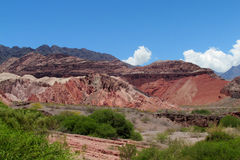En Argentinien natürliche Reserve Quebrada de Las Conchas Lizenzfreie Stockbilder