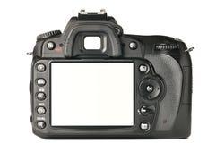 En arrière d'un appareil-photo moderne de DSLR Photographie stock