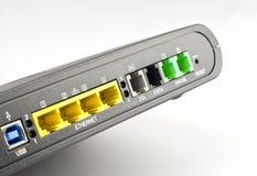 En arrière de l'ADSL de modem avec l'ombre Photos libres de droits