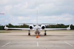 En arrière de l'avion à réaction Photo libre de droits