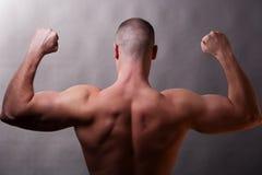 En arrière de l'homme musculaire photos libres de droits