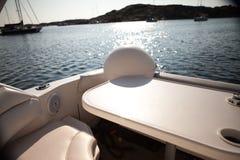 En arrière du bateau Photos libres de droits