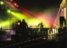 En arrière du stand #2 du DJ images libres de droits
