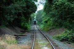 En arrière du train Photographie stock