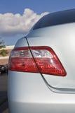 En arrière du véhicule hybride photographie stock