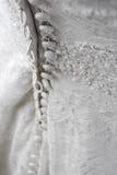 En arrière de la robe de mariage Photo stock