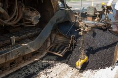 En asfaltmaskin Royaltyfri Fotografi