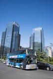 En Asia, China, Pekín, el edificio y el tráfico, Fotos de archivo