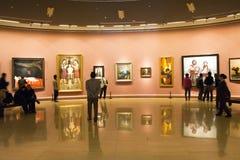 En Asia, China, Pekín, museo de arte, la disposición de la sala de exposiciones, diseño interior Fotografía de archivo