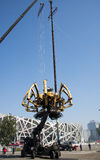 En Asia, China, Pekín, parque olímpico, la araña, el desfile mecánico francés Fotografía de archivo