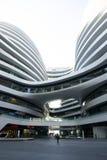 En Asia, China, Pekín, SOHO, la vía láctea, arquitectura moderna Foto de archivo libre de regalías