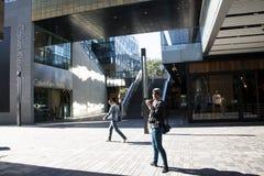 En Asia, Pekín, China, abre el distrito de las compras, Taikoo Li Sanlitun Imagenes de archivo