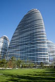 En Asia, Pekín, China, arquitectura moderna, SOHO de Wangjing Fotografía de archivo libre de regalías