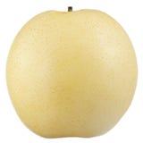Asiatisk (kines eller Nashi) Pear som isoleras på vitbakgrund Arkivbild