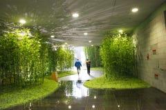 En Asie, Pékin, Chine, architecture moderne, le musée capital, le hall d'exposition d'intérieur Photographie stock libre de droits