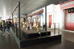 En Asie, Pékin, Chine, architecture moderne, le musée capital, le hall d'exposition d'intérieur Image libre de droits