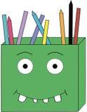 En ask av blyertspennor Fotografering för Bildbyråer