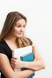 Metad kvinnlig högskolestudent royaltyfri bild