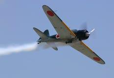 Mitsubishi A6M nolla royaltyfri foto