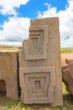 Komplex Puma Punku för Megalithic sten Royaltyfri Fotografi
