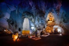 En av de mest härliga grottorna i Thailand, Muang på grottan Fotografering för Bildbyråer