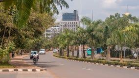 En av de mest rena städerna i Afrika, Kigali Arkivbilder