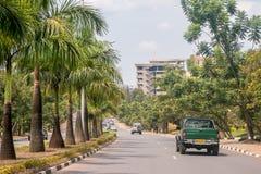 En av de mest rena städerna i Afrika, Kigali Arkivfoton