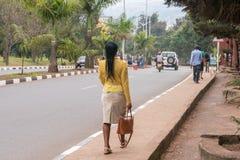 En av de mest rena städerna i Afrika, Kigali Royaltyfria Bilder