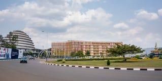 En av de mest rena städerna i Afrika, Kigali Arkivfoto