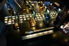 En av de ovanliga utställningarna av den museum`-Cosmo CAIXA `en i Barcelona fotografering för bildbyråer