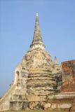 En av de tre forntida stupasna ayutthaya thailand Arkivbilder