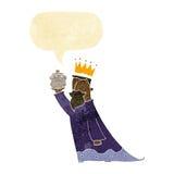 en av de tre kloka männen med anförandebubblan Royaltyfri Bild