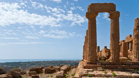 Landskap med antikviteten fördärvar royaltyfri fotografi