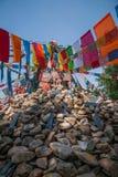 En av den berömda tibetana buddistiska templet ---- Miao Temple av Mani Dui obo arkivfoto