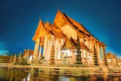 En av den viktigaste templet av Thailand Royaltyfria Foton