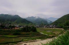 En by av det Xinhua länet Arkivbilder