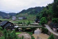 En by av det Xinhua länet Royaltyfri Bild