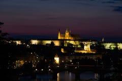 En av domkyrkorna i Prague Royaltyfria Bilder