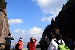 En av Huangshan royaltyfri foto