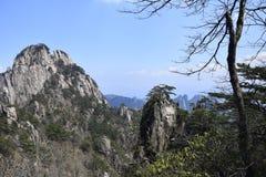 En av Huangshan royaltyfria foton