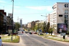 En av ingången i Novi Sad, utgångsfestivalstad Arkivbild