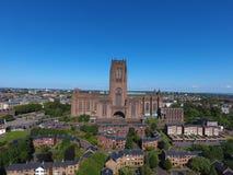 En av Liverpools fantastisk iconic byggnad arkivbilder